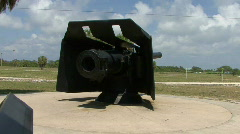 Historic Artillery At Historic Floridian Fort Stock Footage