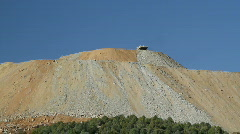 Mining truck dumping tailings Stock Footage