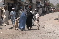 Women in Burqa in FATA - stock footage