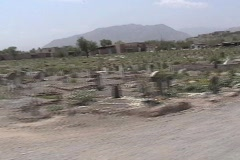 Roadside Graveyard in South Waziristan Stock Footage