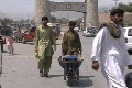 Man and Boy with Wheelbarrow in Khyber Agency; Jamrud City Footage