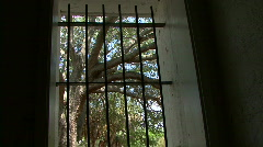 Cast Iron Window Bars  - stock footage