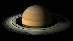 Planet Saturn Rotation with alpha channel Stock Footage