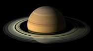 Stock Video Footage of Planet Saturn Rotation with alpha channel