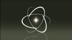Sparkling atom Stock Footage