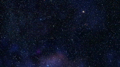 Flight along Milky Way, HD - stock footage