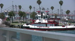 Fireboat Number 2 - Port of Los Angeles Series Stock Footage
