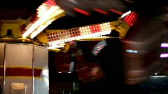 Carnival ride Scrambler at Night Stock Footage