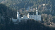 Stock Video Footage of Castle Neuschwanstein early in the morning