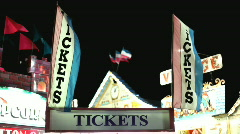 Ticket Purchasing booth at carnival Stock Footage