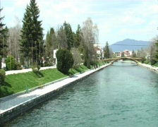 Struga macedonia river crn drim Stock Footage