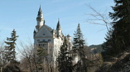 Stock Video Footage of Castle Neuschwanstein, west side