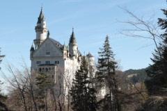 Castle Neuschwanstein, west side Stock Footage