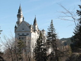 Castle Neuschwanstein, west side Stock Footage