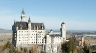 Stock Video Footage of Castle Neuschwanstein, from Poellatbridge