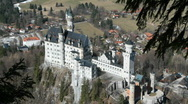 Stock Video Footage of Castle Neuschwanstein, south side