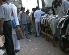 Walking through Karachi Market Stock Footage