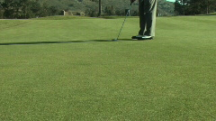 Golf Putt. Dolly. 720p Stock Footage