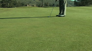 Stock Video Footage of Golf Putt. Dolly. 720p