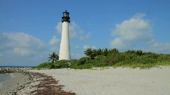 Lighthouse at Cape Florida Stock Footage