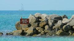 Key Biscayne Cape Florida Beach Stock Footage