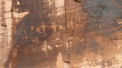 Petroglyths, pictroglyth Stock Footage