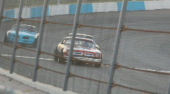 Street stock cars racing - 3 - Camaros lining up. Stock Footage