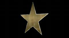 Shiny Metal star 1 Stock Footage