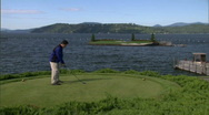 Stock Video Footage of Mountain Golf Course 6