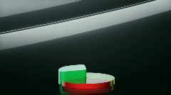 Pie Graph on Black Background Stock Footage