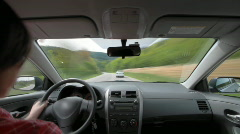 Driving through forest timelapse  Stock Footage