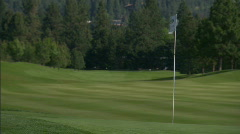 Mountain Golf Course 10 Stock Footage