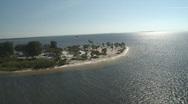 Aerial Wind Surfer Sunset Beach Stock Footage
