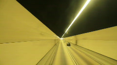 car driving fast in tunnel - stock footage