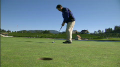 Mountain Golf Course18 - stock footage