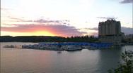 Mountain Resort Sunset Stock Footage