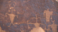 Stock Video Footage of Petroglyths American Southwest