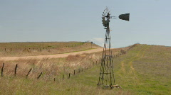 Prairie Windmill Stock Footage