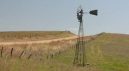 Stock Video Footage of Prairie Windmill