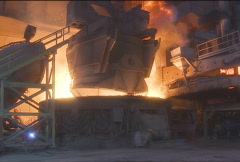 Stock Video Footage of Steel Mill.10