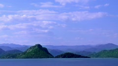 Hills on the Lake - stock footage