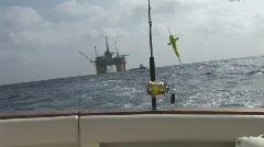 Stock Video Footage of Saltwater Fishing Oilrig