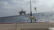 Stock Video Footage of Saltwater Fishing Oilrig