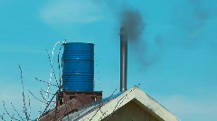 The smoke from the chimney. Stock Footage