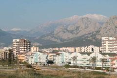 Antalya Beach area Stock Footage