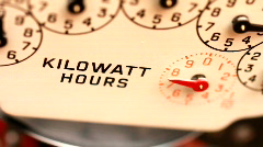 Electricity supply meter dials close up - stock footage