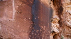 Indian petroglyths, southwest U.S. - stock footage