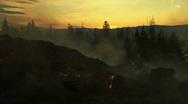 Okanagan Forest Fire Stock Footage