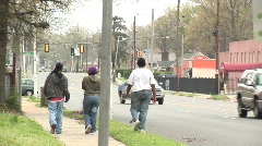 black youth walking away - stock footage