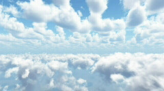 HD cloud fly through 2 - stock footage